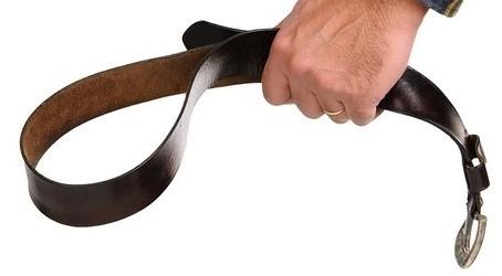 used belt holding