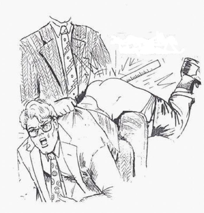Male male spank drawings — 10