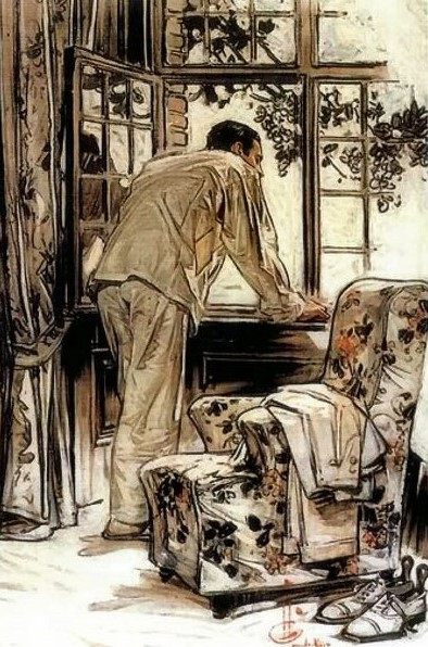 z used sitting room by Leyendecker (59)