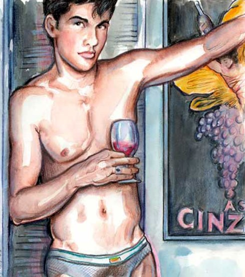 z used pants wine glass Endymion Hill
