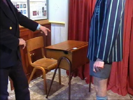 z used adult schoolboy shorts cane desk (35)