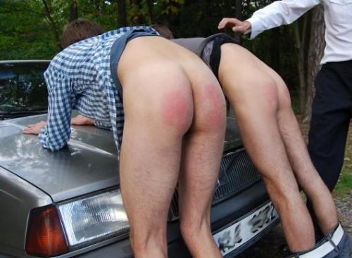 z used belt bare twosome over car (1)