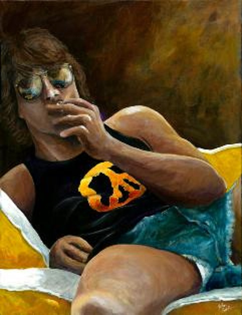 z used solo short shorts smoking by john kohlburn