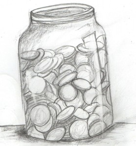 z used jar money drawing