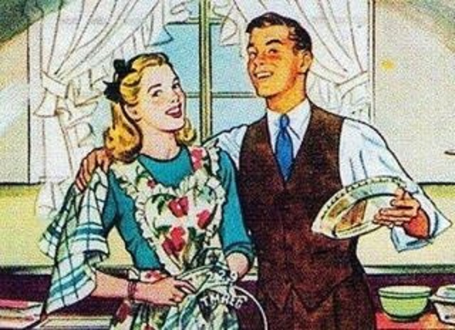 z used retro domestic young man and woman kitchen (1)