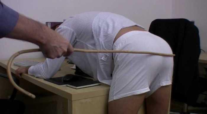 z used cane white pants desk office sting